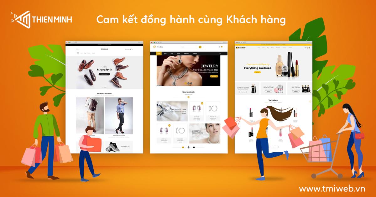 thiết kế website bán hàng tại công ty Thiên Minh