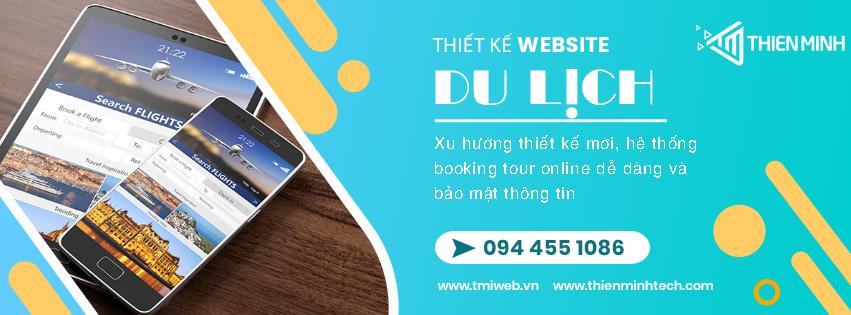 Dịch vụ thiết kế website du lịch Thiên Minh - Hotline 0944551086