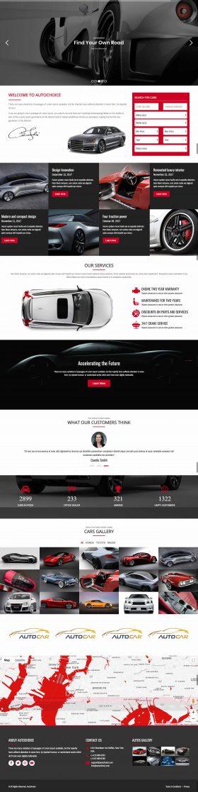 Mẫu giao diện website bán xe ô tô tại Thiên Minh