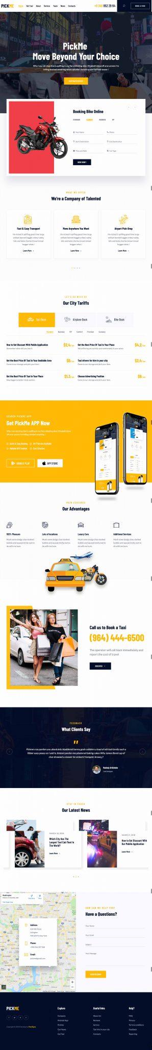 Mẫu thiết kế website dịch vụ thuê xe du lịch