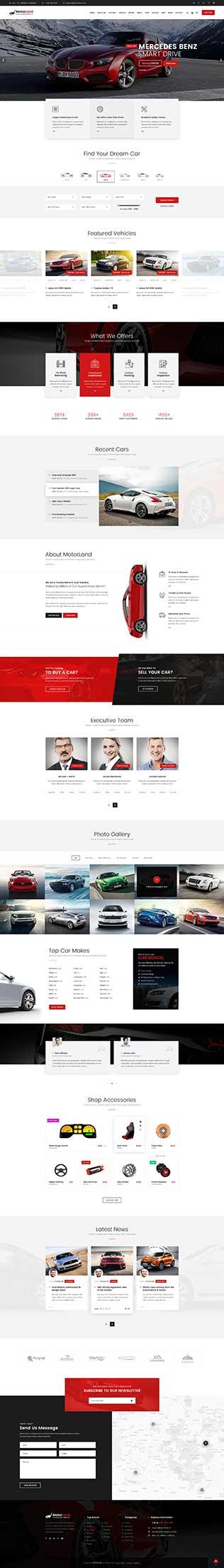 Mẫu giao diện thiết kế website thuê xe du lịch
