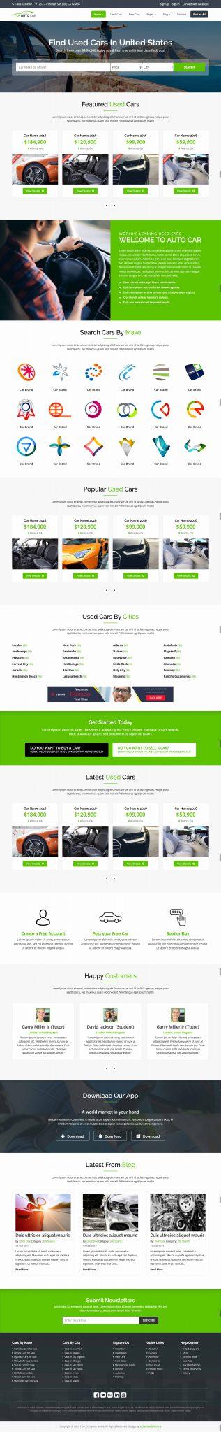 Mẫu thiết kế website dịch vụ cho thuê xe du lịch