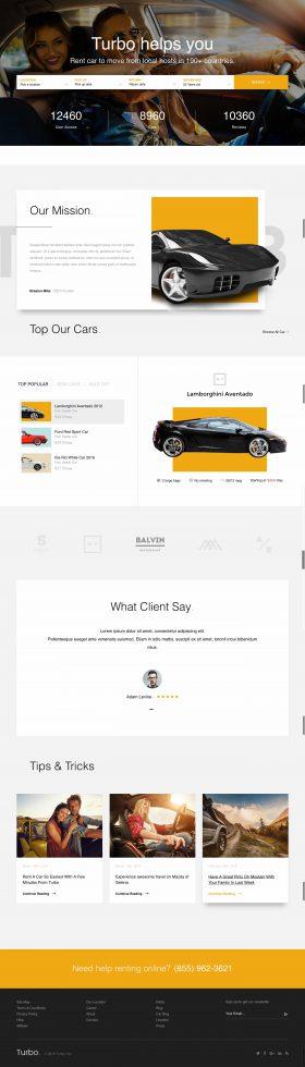 Mẫu thiết kế website thuê xe du lịch