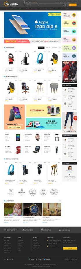 Mẫu Giao diện Shop Thiết bị Điện tử TMi_Elec_13003