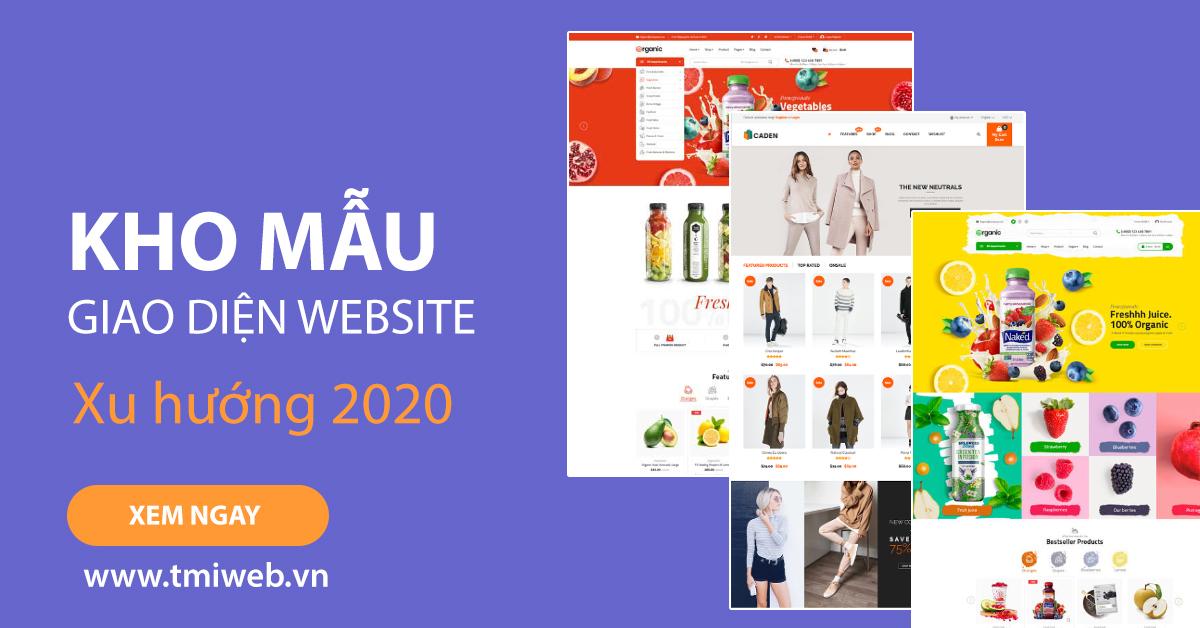 Mẫu giao diện website năm 2020 tại công ty Thiên Minh