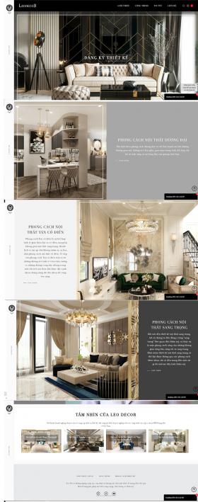 Mẫu thiết kế website Leodecor
