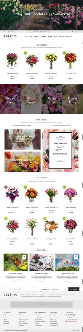 Thiết kế website Shop hoa tại Thiên Minh