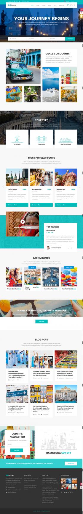 Thiết kế website du lịch Thiên Minh