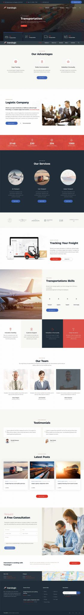 Thiết kế website đẹp cho doanh nghiệp vận chuyển