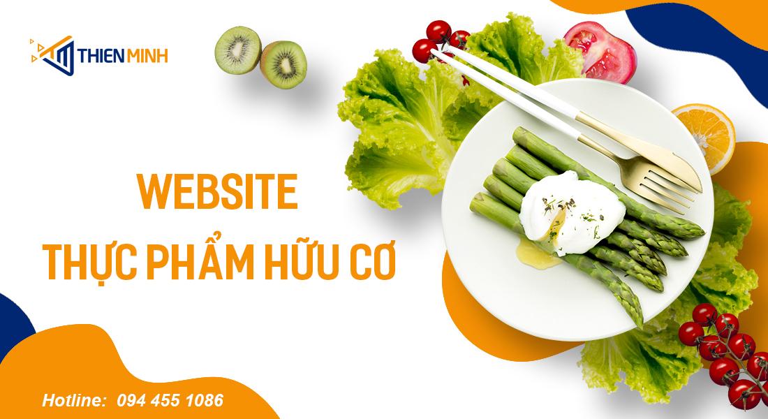 Giao diện thiết kế website thực phẩm hữu cơ