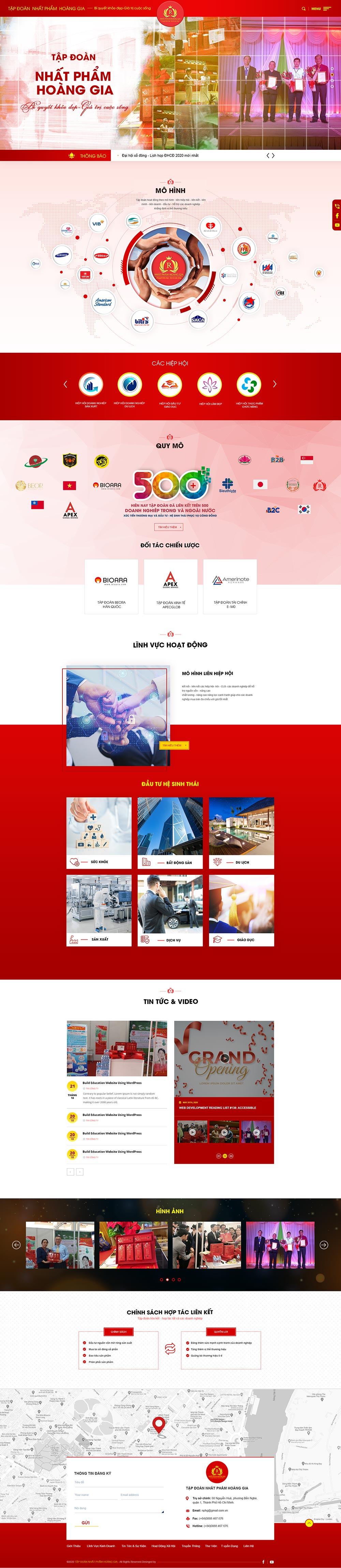 Giao diện website Nhất Phẩm Hoàng Gia