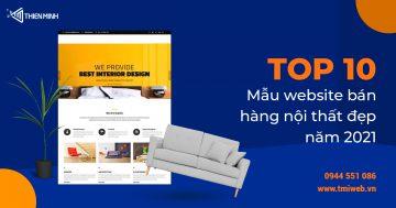 Thiết kế website nội thất chuyên nghiệp tại Thiên Minh