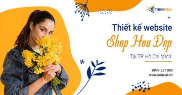 Thiết kế website shop hoa đẹp tại Thiên Minh