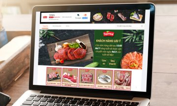 Các sản phẩm của TopMeal trên gian hàng LazMall đa dạng từ heo, bò, đến các loại thủy, hải sản tươi sống.Ảnh:Lazada Việt Nam.