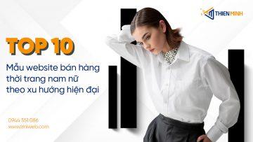 Thiết kế website bán hàng thời trang đẹp tại Thiên Minh